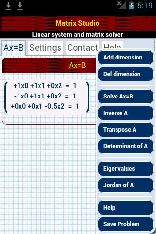 Matrix Studio - The android matrix calculator